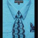 Men'S Classic Dress Shirt Turquoise