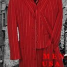 Red & White Fashion Style Long Dress Suit 3 Pieaces Vested