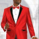1 Btn Shiny Sharkskin Satin Metallic Available In Red Or Black Or Champagne 2 Tone Suit