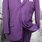 Super 120'S G-Purple Solid Color Suit