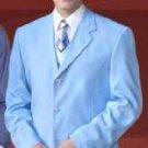 Beautiful Mens Sky Blue Pastel Color 3 Button Style Jacket Plus Pants Dress