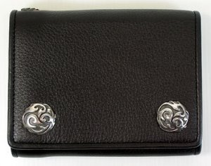 FLAME 925 SILVER GENUINE COWHIDE LEATHER MENS WALLET
