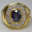 CHRISTIAN BISHOP 14K YELLOW GOLD STERLING SILVER RING