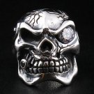 DIAMOND HEAVY MAFIA SKULL STERLING SILVER RING ALL SIZES