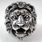 LION LEO BIG 925 STERLING SILVER MENS RING Sz 15.5 NEW