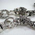 LION FLAME 925 STERLING SILVER MENS WALLET CHAIN NEW