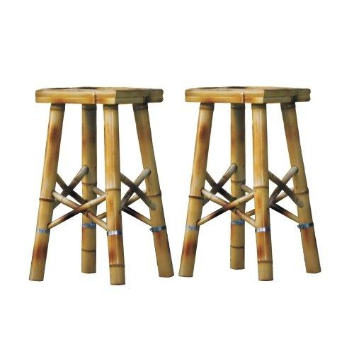 Tiki Bar Stools Set Of 2