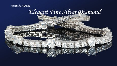 14.88ct PLATINUM BRILLIANT ROUND TENNIS BRACELET