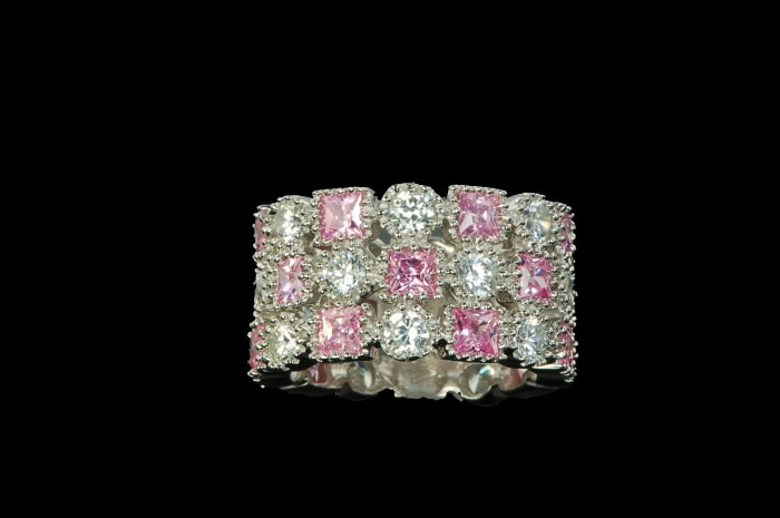 GORGEOUS PINK ETERNITY RING # 6 or 7