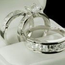 Trio Bridal Ring Set sz 3-12 in sterling silver