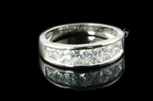 7MM WEDDING BAND GROOM MENS RINGS SIZES 7-13 in Sterling Silver