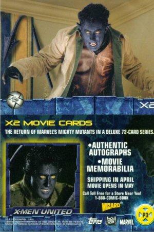 X-Men 2 Promo Card 3 - Nightcrawler NM FREE SHIPPING