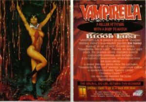 VAMPIRELLA BLOODLUST PROMO CARD 1997 Comic Images #1 NM FREE SHIPPING