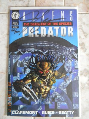 ALIENS VS PREDATOR #1 NM SIGNED BY JACKSON GUICE W/COA