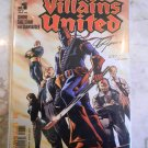 VILLAINS UNITED #1 - SIGNED BY COVER ARTIST J G JONES