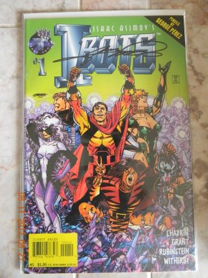 I-BOTS #1 SIGNED BY GEORGE PEREZ DF NM W/COA