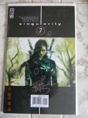 SINGULARITY 7* #1 DYNAMIC FORCES VARIANT SIGNED BY BEN TEMPLESMITH NM W/COA
