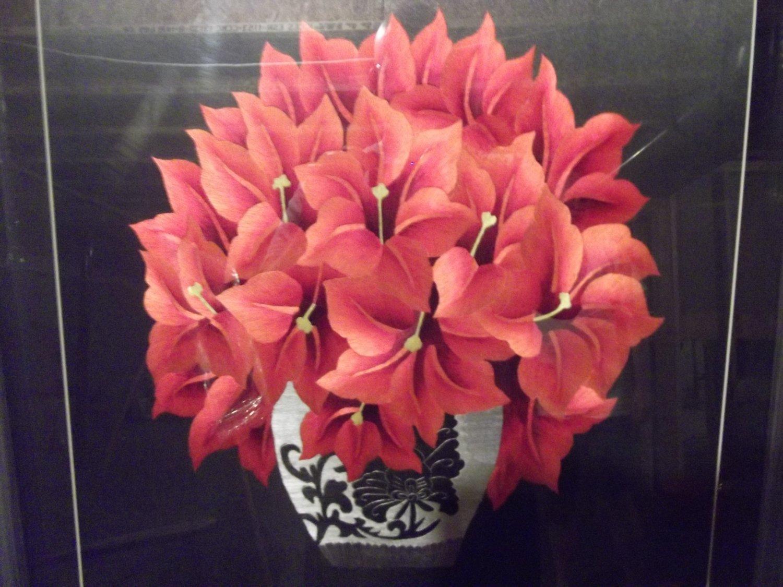 Poinsettia Flowers in vase