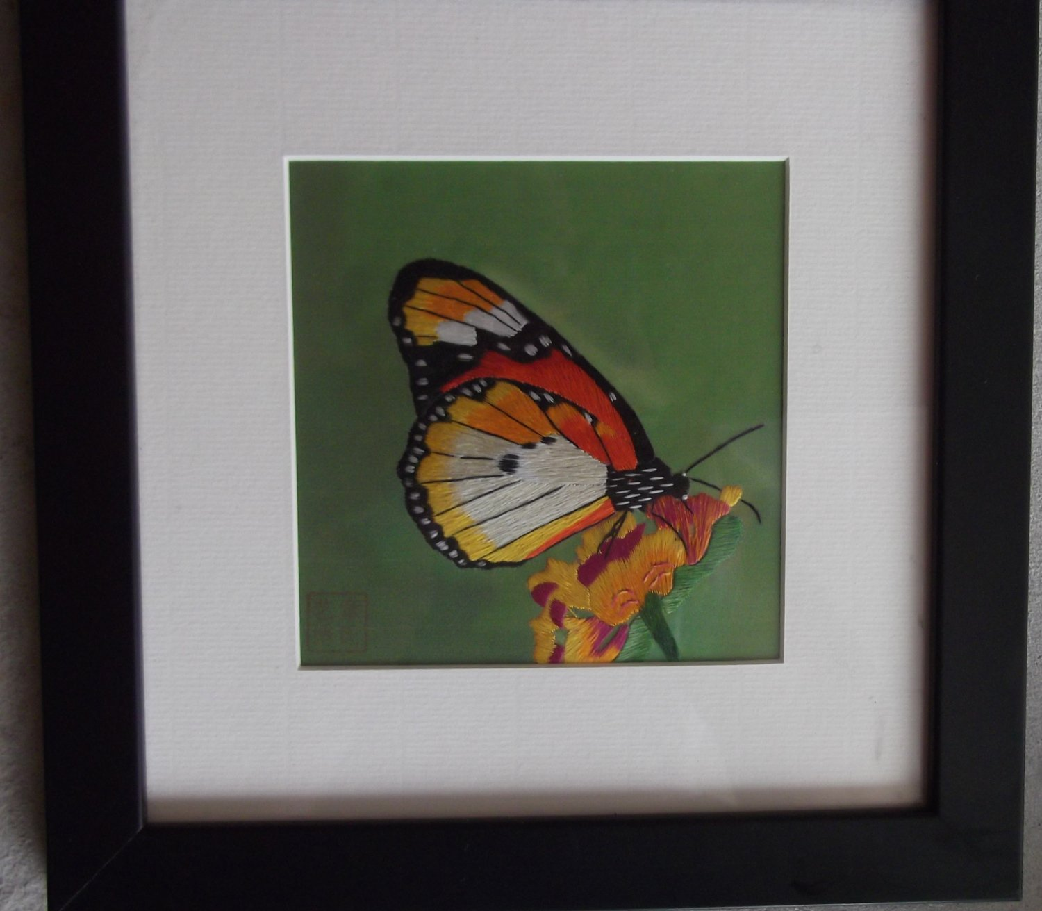 An Orange and White Butterfly