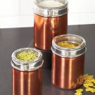 3-Pc. Copper Canister Set Jeweltone Kitchen Necessities