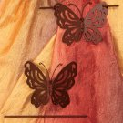 Set Of 2 Bronze Butterfly Window Tie-Backs
