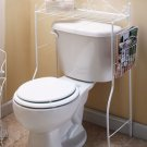 White Over-the-Toilet Stand