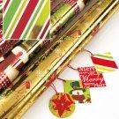 Metallic Wrapping Paper Roll Stripe Design