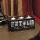 New Sentiment Family Candleholder Block Great Home Decor