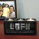 New Sentiment Life Candleholder Block Great Home Decor