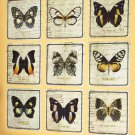 New 9-Pc. Antique Butterfly Wall Art Appliqué Set
