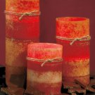 Set of 3 Brown Battery Operated LED Candles
