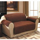 New Chocolate Sofa Cover Quilted Sueded Furniture Cover