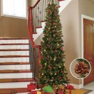 New 7-Ft.  White Prelit with 200 lights Slim Tree