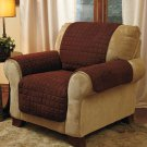 New Chocolate Chair Cover Quilted Sueded Furniture Cover