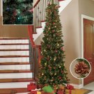 New 7-Ft.  Multicolored prelit with 200 lights Slim Tree