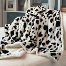 New Cow Plush Animal Print Sherpa Throws