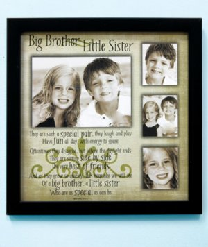 Big Brother / Little Sis Sibling Collage Frame