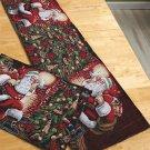 New Holiday Christmas Santa Tapestry Runner