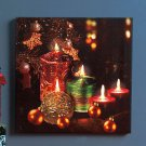 Battery operated Holiday Twinkling LED Canvas Wall Art