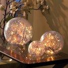 New Set of 3 Lighted Glass Balls