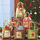 Set of 6 Polyester Christmas Treat Bags