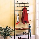 New Metal Entryway Bench with Rack