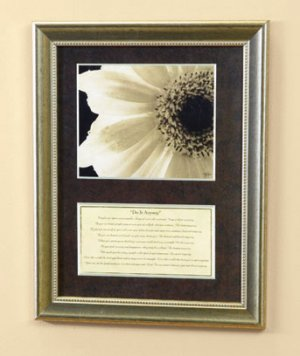 """New """"Do It Anyway"""" Daisy Picture Print Only"""