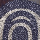 "Blue 47"" x 71"" Area Rug, Braided Rug Collection"