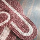 "Burgundy 22"" x 60"" Runner, Braided Rug Collection"