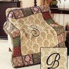 "New 50"" x 60"" Elegant Acrylic Monogramed "" B "" Tapestry Throw"