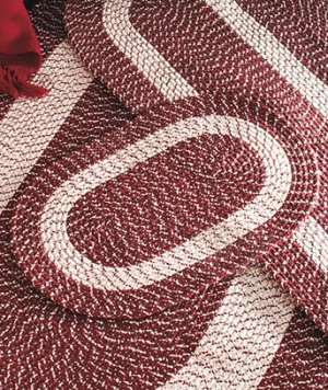 """Burgundy 20"""" x 30"""" Accent Rug, Braided Rug Collection"""