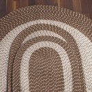 "Taupe 20"" x 30"" Accent Rug , Braided Rug Collection"