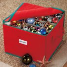New Red Christmas Holiday Ornament Storage Organizer Container