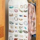"""New 31"""" x 16"""" Double Sided Hanging Jewelry Storage Organizer"""